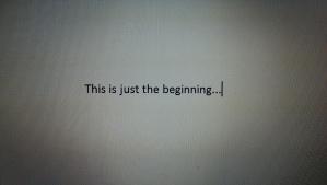 Beginning text